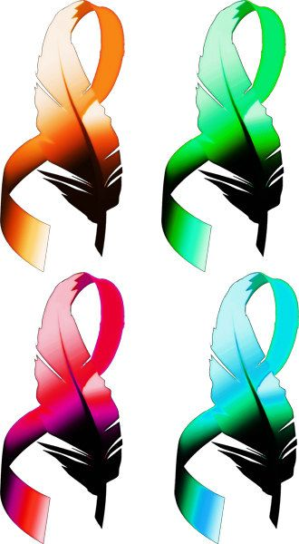 feather cancer ribbons clipart png clip art by DigitalGraphicsShop