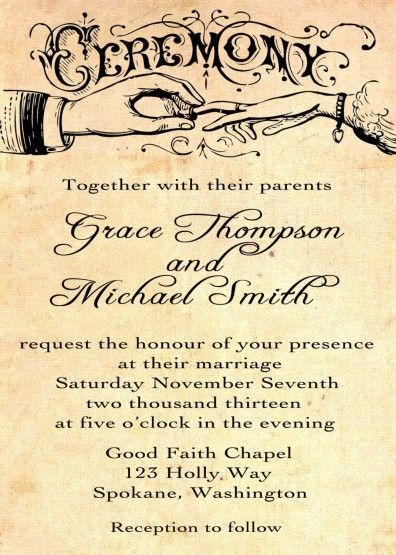 The 89 best images about Wedding on Pinterest Hair, Marriage and - vintage invitation template