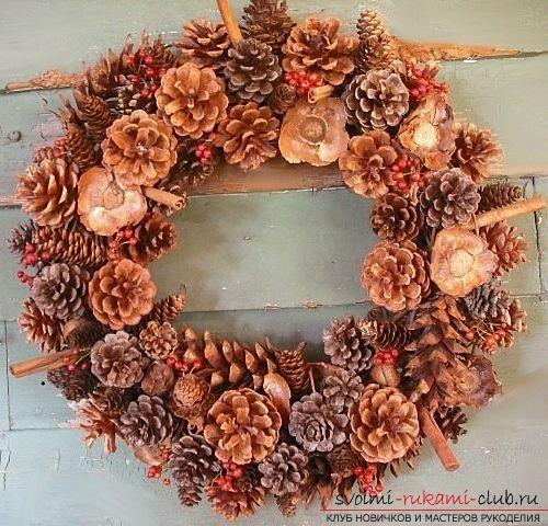 Традиционное украшение – рождественский венок своими руками. Порядок работы. Фото №1