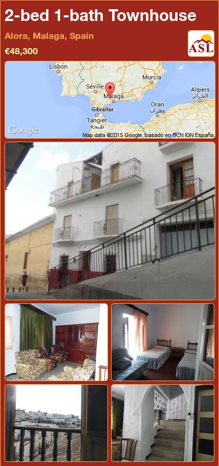 2-bed 1-bath Townhouse in Alora, Malaga, Spain ►€48,300 #PropertyForSaleInSpain