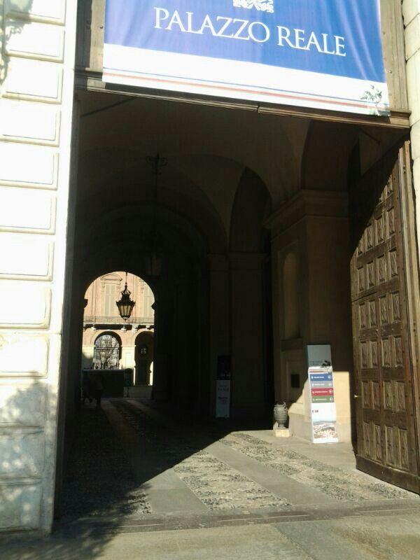 Ingresso Palazzo Reale.Torino, Italy