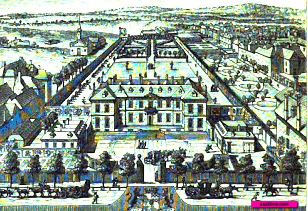Burlington House, London, UK.  From:  1870 Round About Piccadilly and Pall Mall.  Via Google Books (PD-150).    suzilove.com