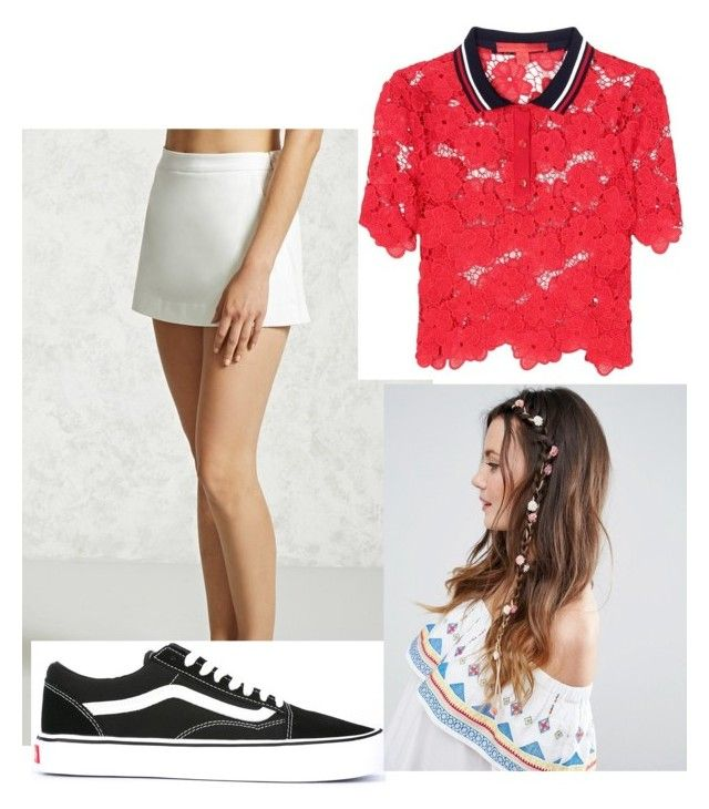 """Untitled #2450"" by dani-vasquez ❤ liked on Polyvore featuring Love 21, Tommy Hilfiger, Vans and ASOS"
