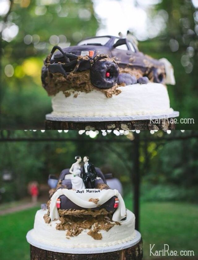 Wedding Cake Topper Trucks Countrywedding Mudding