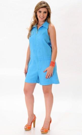#azul #look #estilo #moda #macaquinho