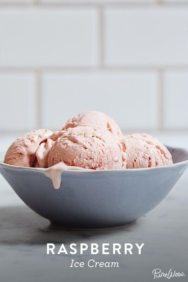 Raspberry Ice Cream via @PureWow via @PureWow