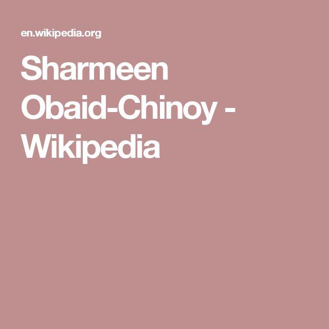 Sharmeen Obaid-Chinoy - Wikipedia