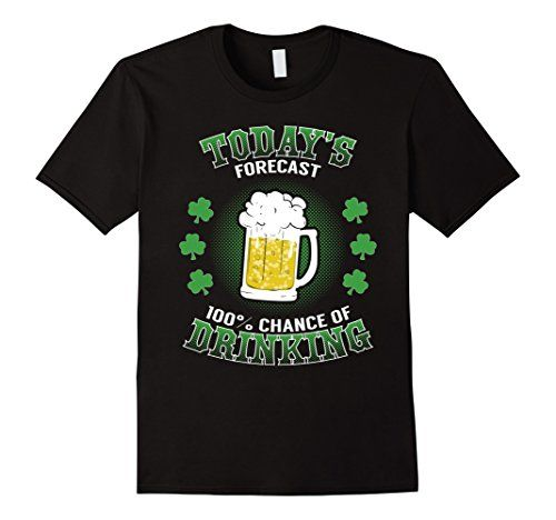 Men's St Patrick's Day 100% Chance of Drinking Shamrock Beer lover shirt