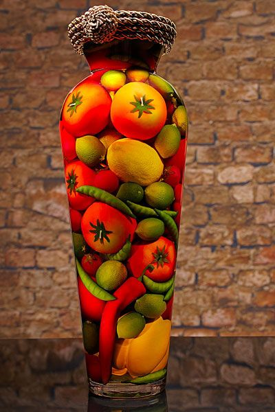17 best images about fruit veggies in bottles on - Decorative fruit jars ...