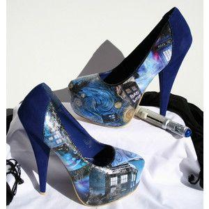 Doctor Who Heels Doctor Who Shoes Tardis Heels Tardis Shoes Wedding Heels Wedding Shoes Decoupage Heels Decoupage Shoes Blue Velvet Heels