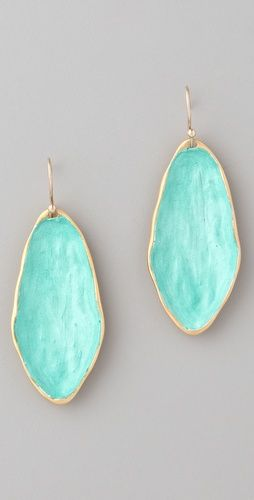 Green puddle earrings