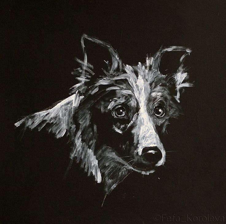 """Dog"" Materials: ink, cardboard, acryl 2013"