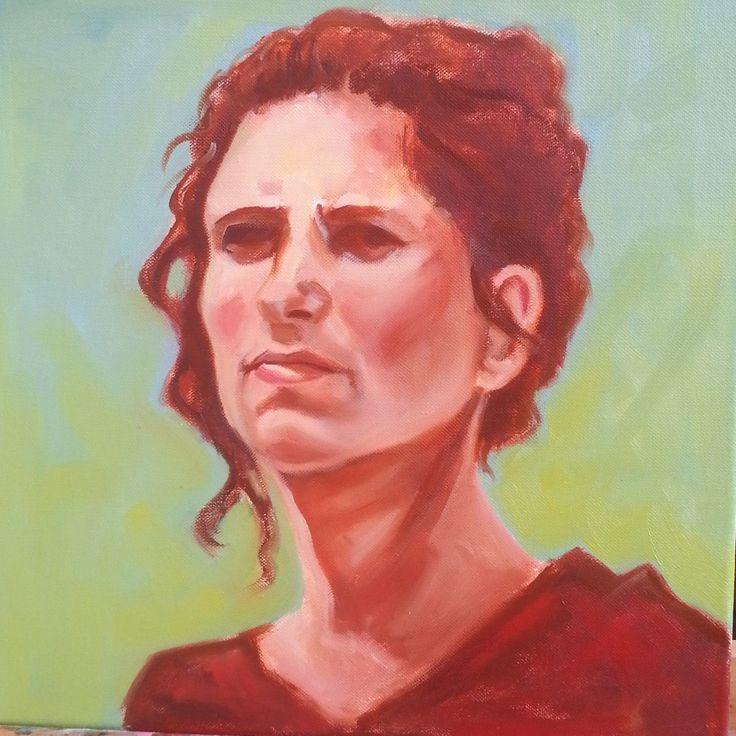 Selfportrait Maria Tomczak. Oilpainting