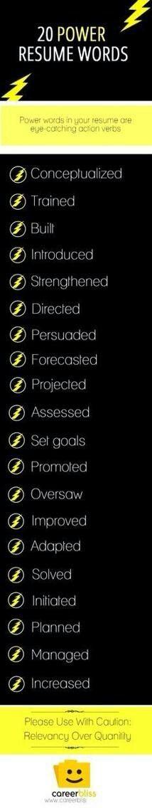 Resume power words