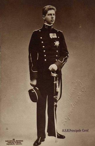 Prince Carol de Roumanie (1893-1953) fils de Ferdinand 1er et de Marie d'Edimbourg