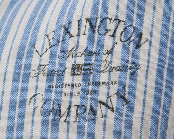 Cottage Collection Ticking Sham, Blue Stripe