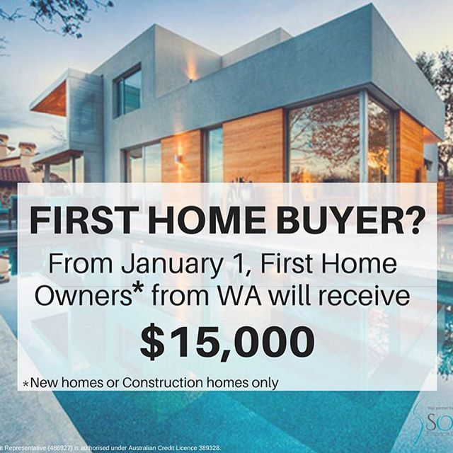 Great news for first home buyers/owners!! WA First Home Owner Grant is now boosted from $10,000 to $15,000! Shoot me a message or give me a call 0408 081 082 to help you with the process!