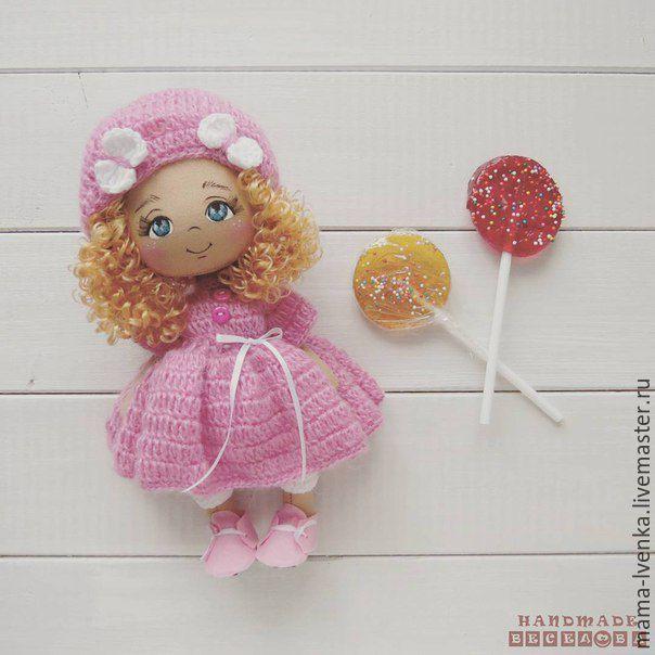 Купить Розовый леденец - розовый, кукла ручной работы, кукла, кукла в подарок, кукла интерьерная