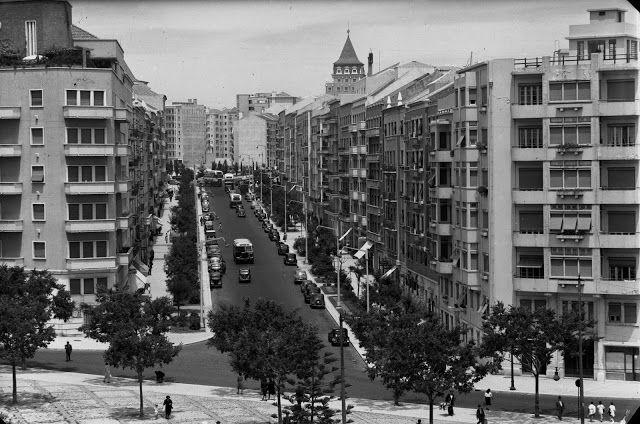 Avenida Guerra Junqueiro, década de 1950. António Passaporte.