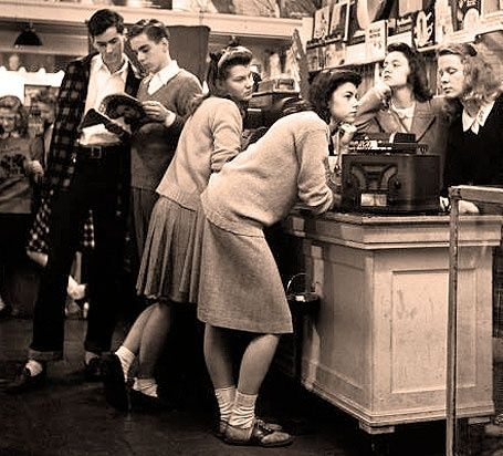 Hangin' out at the Record Shop in the 50's