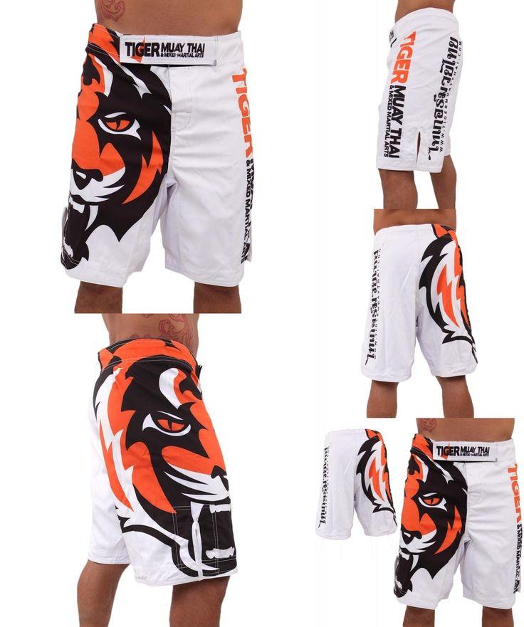 [Visit to Buy] 2015 Men's White Tiger Muay Thai MMA Shorts combat sports boxing pants  muay thai boxing shorts kick  shorts boxing pants #Advertisement