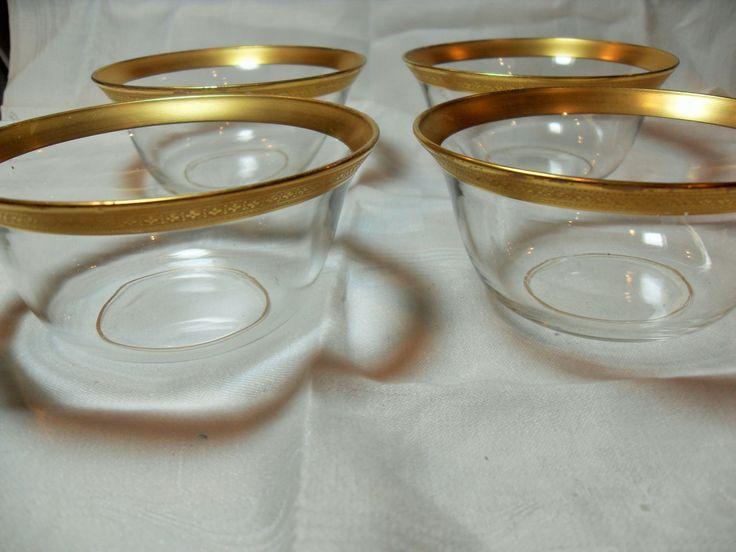 Gold Etched bowls, gold rim dessert bowls, vintage serving bowls, Midcentury bowls, Kitchen and Serving, gft for her, Gingerslittlgems by GingersLittleGems on Etsy