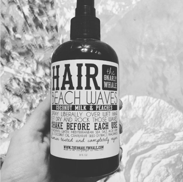 Get perfect beachy tendrils with Gnarly Whale beach waves hair spray, $12 | 19 Natural Beauty Products That Actually Work