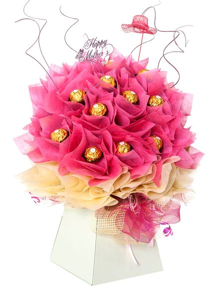 Mothers Day Pink Chocolate Bouquet Chocolate Bouquets