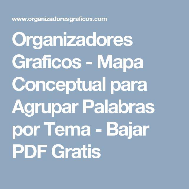 Organizadores Graficos - Mapa Conceptual para Agrupar Palabras por Tema - Bajar PDF Gratis