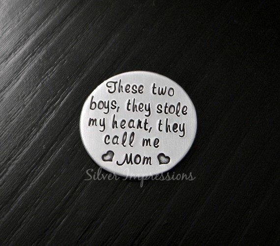 There's These Two Boys Who Stole My Heart / Floating Locket Plate / Mother and Son Necklace / Floating Lockets by SilverImpressions on Etsy https://www.etsy.com/listing/196215179/theres-these-two-boys-who-stole-my-heart