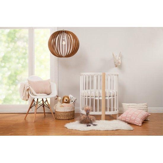 Babyletto Hula Convertible Oval Crib and Mini with Mini Pad | ModernNursery.com