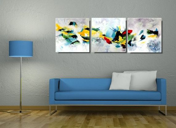 Etsy - something new I like. Abstract acrylic painting on canvas by PaintingsYouWillLove  #painting #abstract #etsy #wallart #paint #triptych #modernart #modern #modernpainting