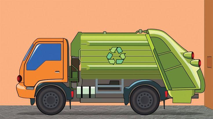 Camion spazzatura al lavoro ✓ Camion del giocattolo per i bambini: Gru, ...