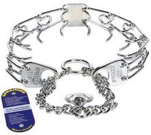 Herm Sprenger Prong Training Collar    These high quality stainless steel collars are going to last many, many years longer than a chrome plated collar. They will never rust. With proper care you will have training equipment that will last over 20 years. Over time a chrome plated collar can rust. This will never happen with a stainless steel collar. This is a very important feature with a prong collar.