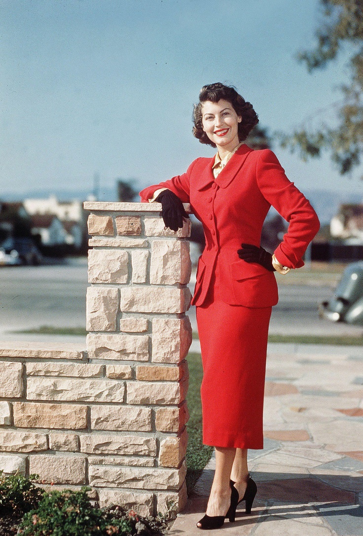 AVA GARDENER ~ probably late 40s or early 50s suit