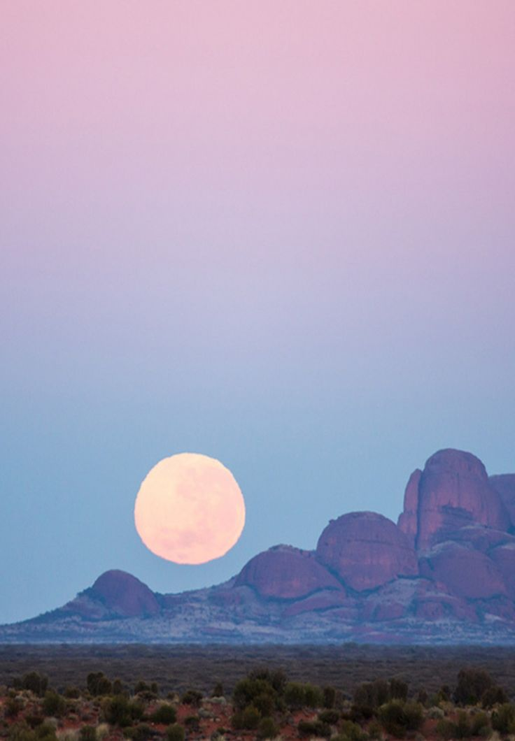 Beautiful Moon over Kata Tjuta