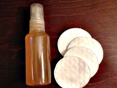 Tónico facial de vinagre de maçã