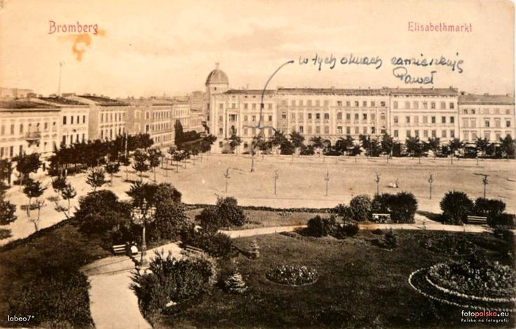 pl. Piastowski (Elisabethmarkt), Bydgoszcz - 1910 rok, stare zdjęcia