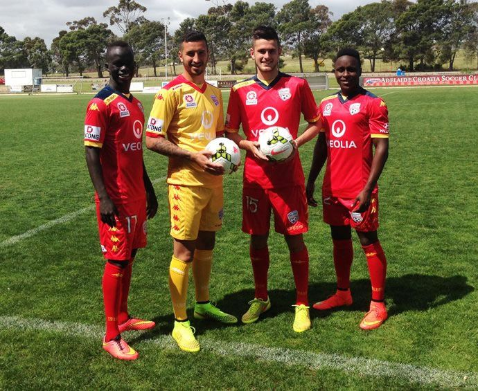 Nice Day Sports: Adelaide United 2014-15 Kappa Home, Away and Third...