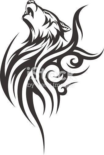 Vektor-Wolf-Tätowierung. Vektorabbildung ohne Transparent. Schwarzes Tattoo. Linie… – #Linie #ohne #Schwarzes #Tattoo #Transparent