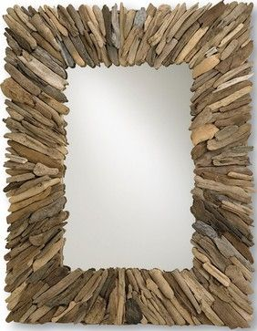 Weathered wood framed Mirror.  Beautiful and is a great project.  Creative Reflections can assist with the mirror application. MirrorGlassDesign.com