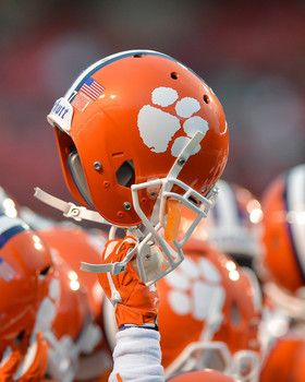 Clemson Tigers Football Helmet Picture at Clemson Photo Store