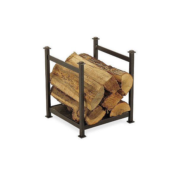Frontgate American Craftsman Wood Rack (1.195 BRL) ❤ liked on Polyvore featuring firescreens & accessories, interior decorative accents, storage rack, lumber rack, wood storage rack, lumber storage rack and wood home decor