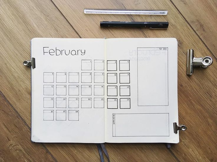 """In February I changed my monthly spread to see how it works for me. Before I only had days with no space and then the list on the other side where I could write down events, so now I put both this pages together. . . . I wrote couple posts ago I have some thoughts about """"the month of love"""" and I think it's time to share them with you. First of all I would like to tell you one thing: it's okay to be in relationship and it's okay to be single. And if you don't have your significant other…"""
