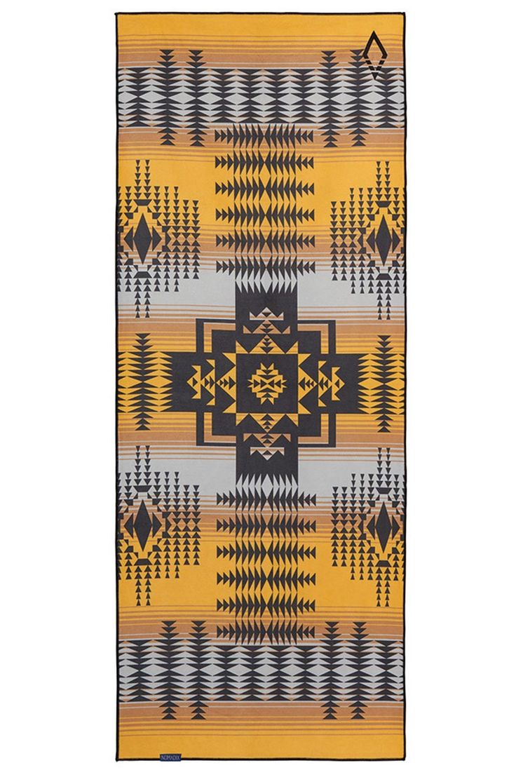 Nomadix Roswell Yellow Recycled Mat Towel