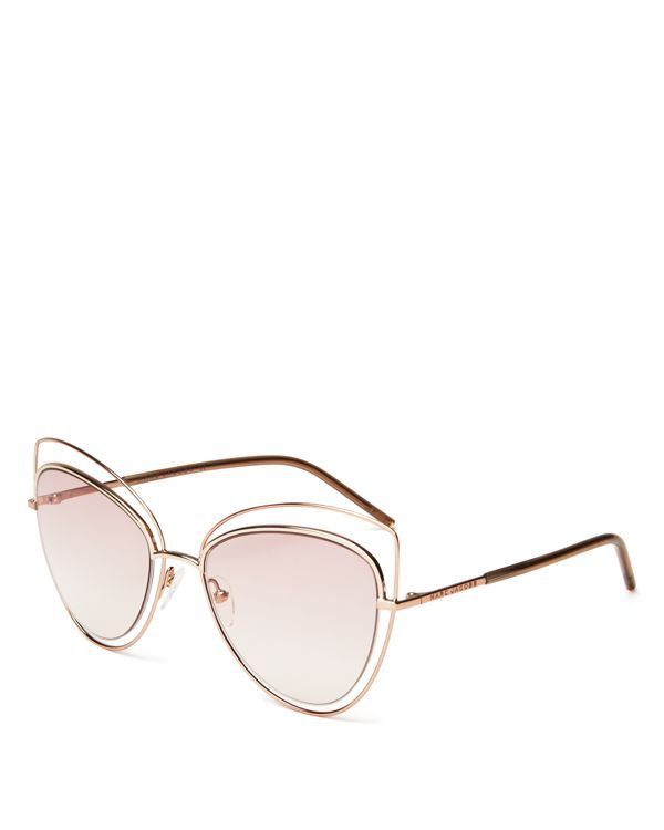 Marc Jacobs Floating Cat Eye Sunglasses, 56mm | Imported | 100% UV protection | Logo at temples | 56 mm lens width | Web ID:1650926