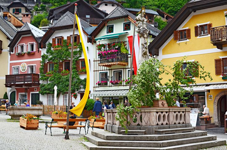 Centre of Hallstatt, Austria's Lake District