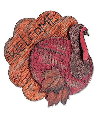 Loving this Turkey 'Welcome' Sign on #zulily! #zulilyfinds