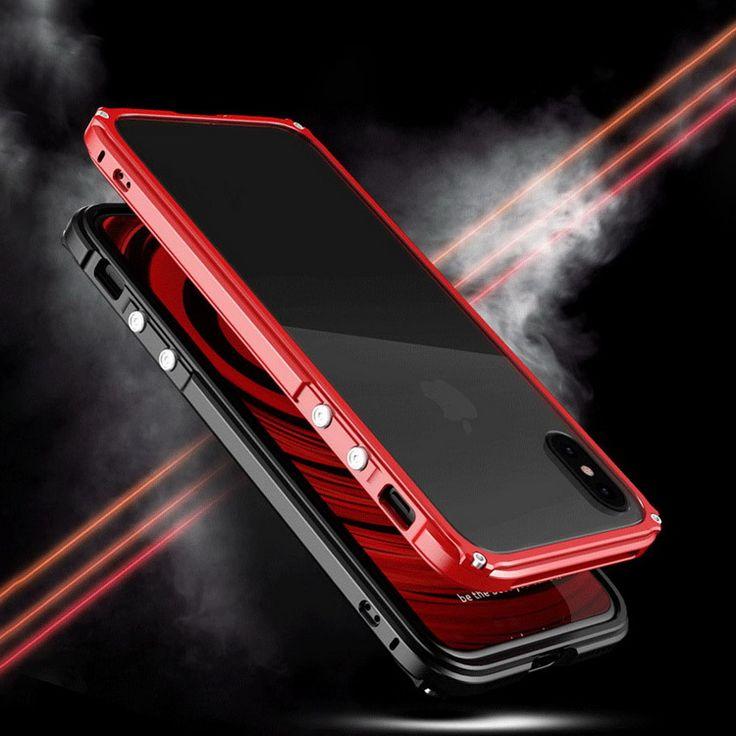 iPhone X アルミバンパー クリア バックパネル付き 2重構造 アイフォン10 メタルサイドバンパー スマホ バンパーケースBOB01【送料無料】 - iphone X 手帳型ケース 通販サイト スマホケースのIT問屋