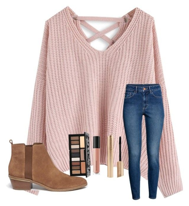 """School day"" by bostonstrong17 ❤ liked on Polyvore featuring Chicwish, H&M, Michael Kors, Bare Escentuals and Kat Von D"